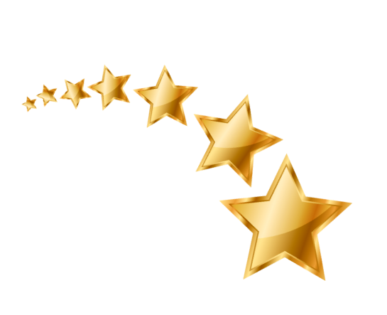 Звезды сверху справа