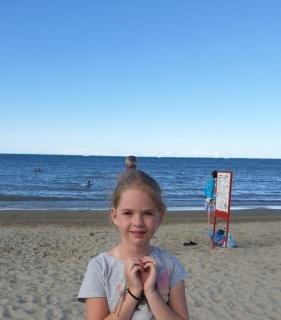 Я на пляже итальянского города Римини!!!