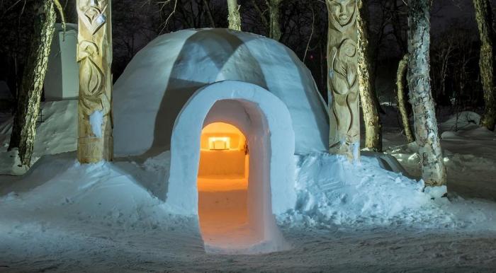 В Сочи открылся отель из снега и льда