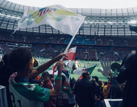 Юный посол «Футбола для дружбы» встретился с Президентом России на матче открытия Чемпионата мира по футболу