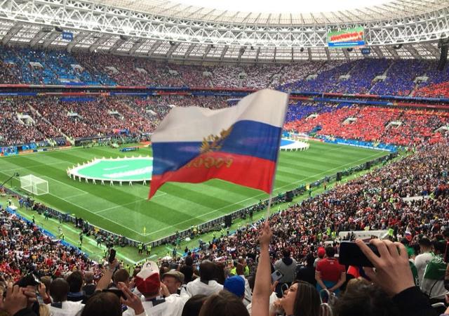 Участники программы «Футбол для дружбы» сходили на матч-открытие Чемпионата мира по футболу
