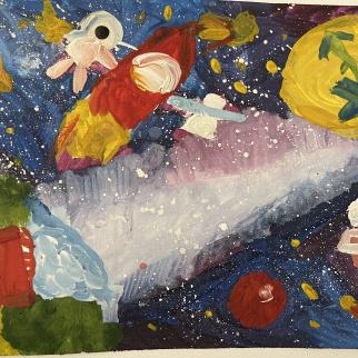 Рисунок-победитель участника Арина Сердюк, 6