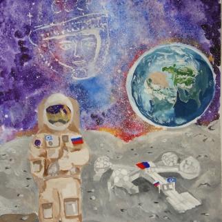 Рисунок-победитель участника Анастасия Макарова, 12