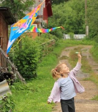 Василиса, дождь и воздушный змей Кузя