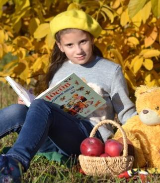 Книжка, Мишка и Полинка