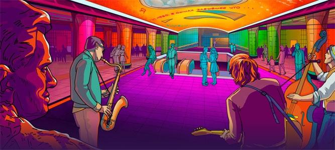 В метро звучит музыка