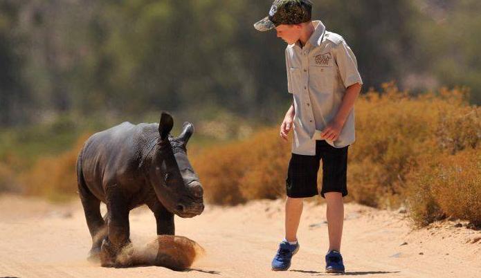11-летний мальчик стал героем Сети, спасая носорогов