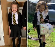 Как выглядят дети до и после первого дня в школе