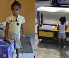3-летняя девочка продает лимонад, чтобы пожертвовать деньги другим детям